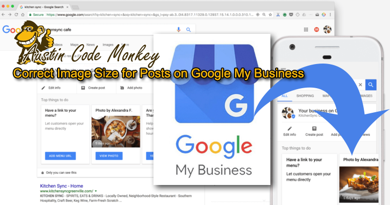 correct image size for goggle my business post